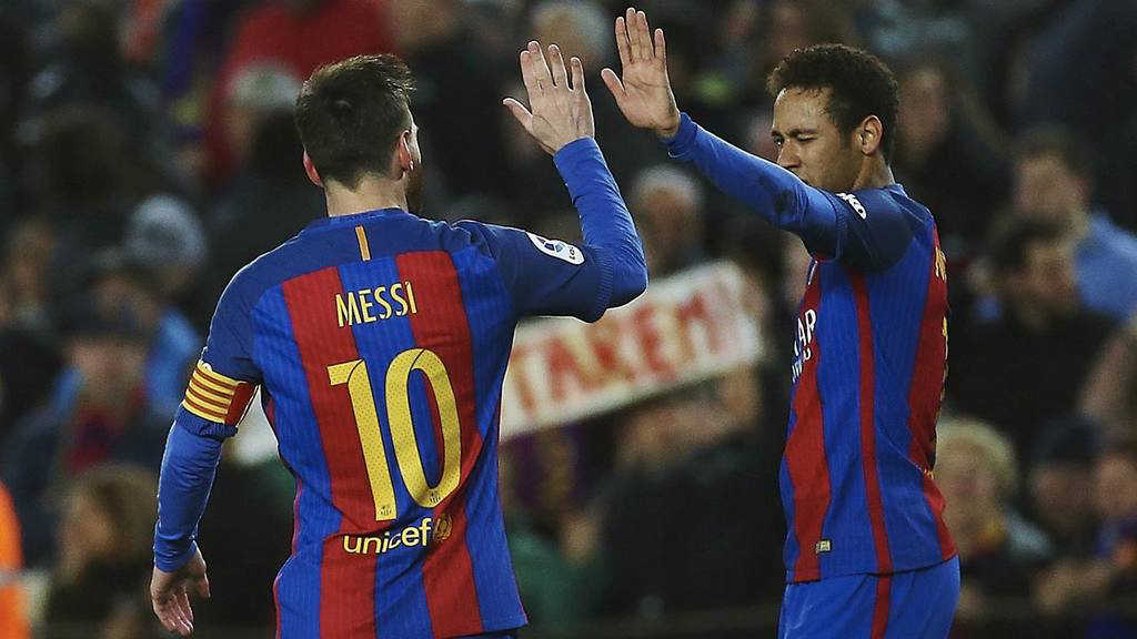 Messi a Neymar: