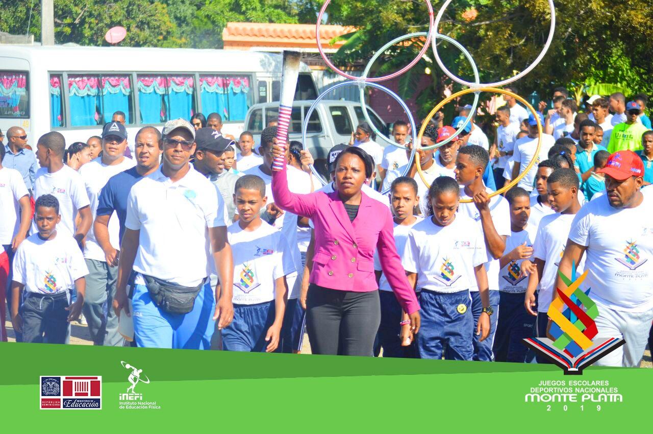 San Juan de la Maguana acoge la Antorcha de los Juegos Escolares