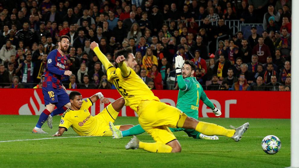 Barcelona sentencia su pase en dos minutos, Messi se viste de gala