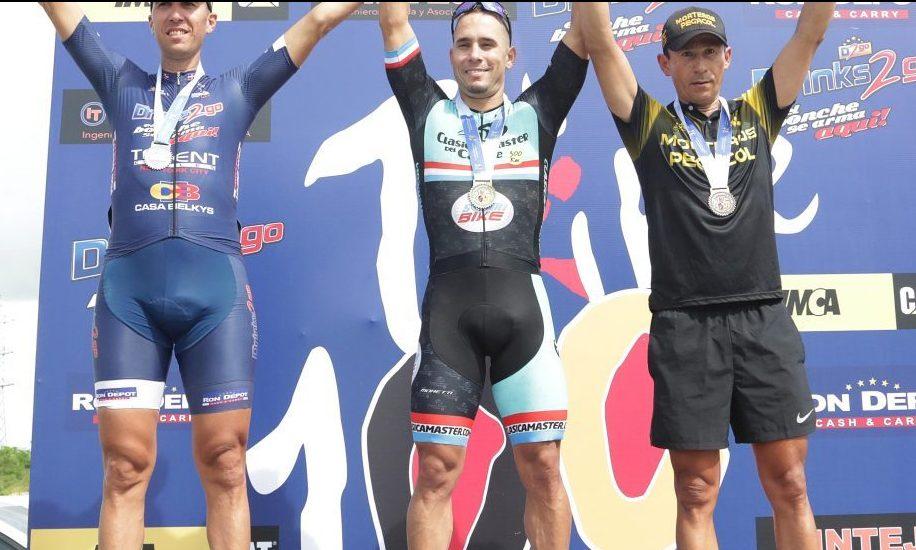 Divaldo Ceballos gana segunda etapa del XX Campeonato de Ciclismo 100