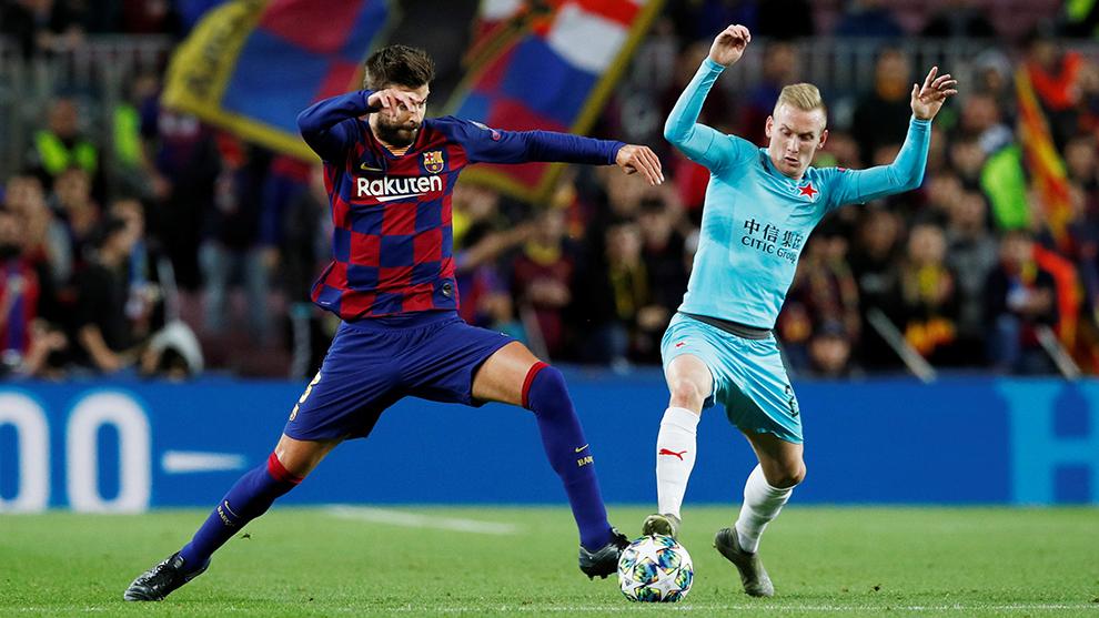 Barcelona empata sin goles ante el Slavia Praga