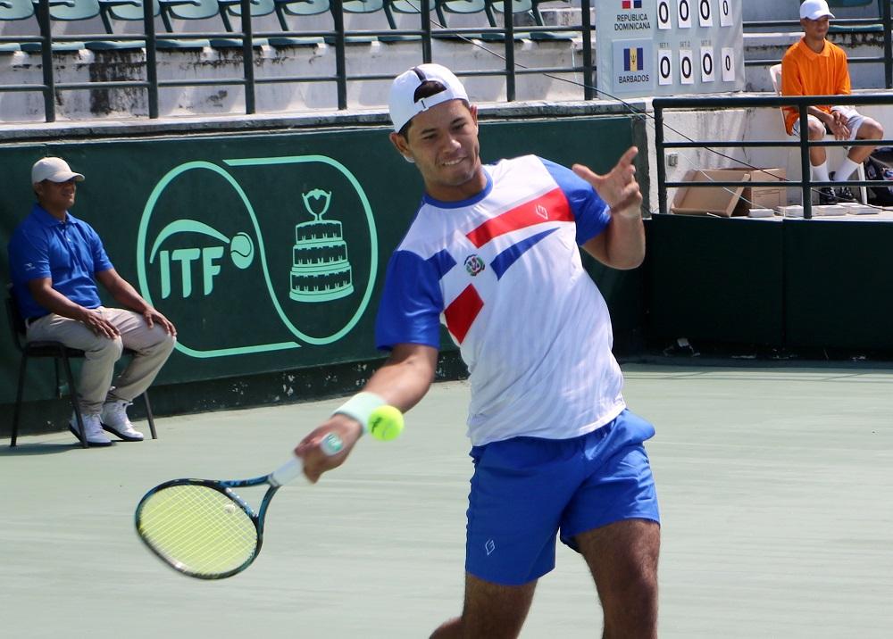 Cuatro tenistas dominicanos debutan  este martes en el M15 Santo Domingo