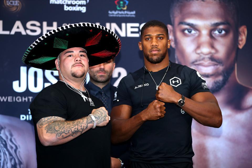 46 libras de diferencia entre Andy Ruiz y Joshua previo a la pelea