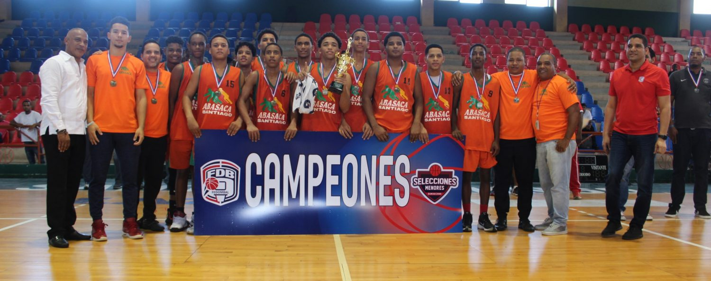 Santiago conquista título torneo nacional basket masculino U-14