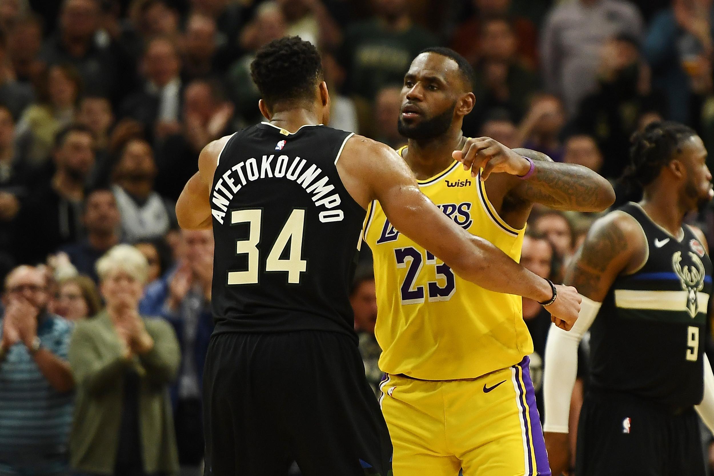 Giannis Antetokounmpo y LeBron James seleccionados Jugadores de la Semana