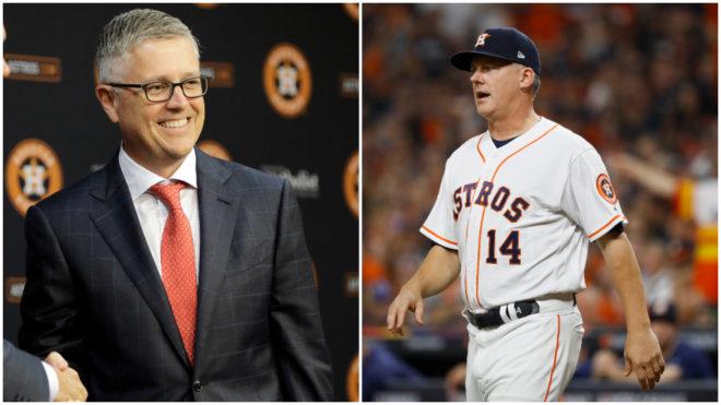 Grandes Ligas suspende a Jeff Luhnow y AJ Hinch; dueño de Astros de Houston los despide