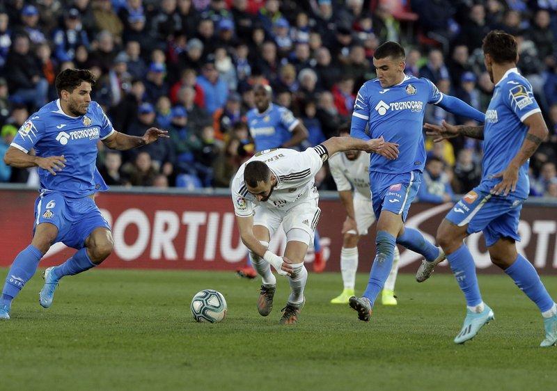 Real Madrid derrota por goleada al Getafe en la Liga Española