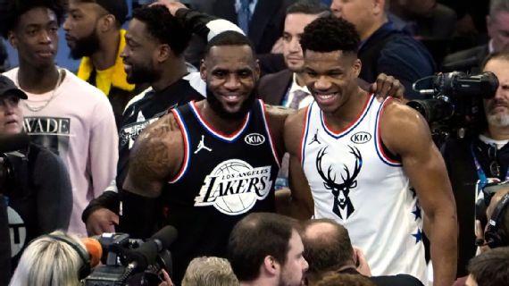 NBA revela los quintetos iniciales para el Juego de Estrellas