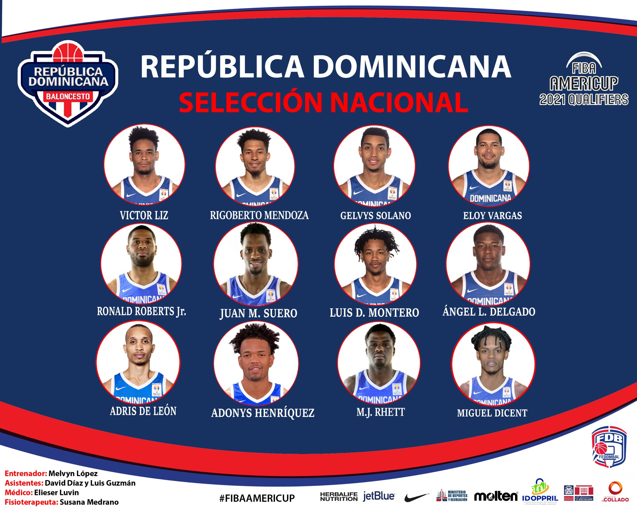 FEDOMAL elige los 12 jugadores que participarán en clasificatorio FIBA