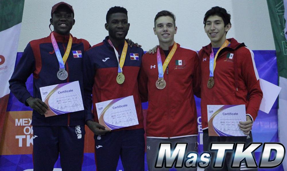 Taekwondo dominicano conquista cinco medallas en Abierto de México