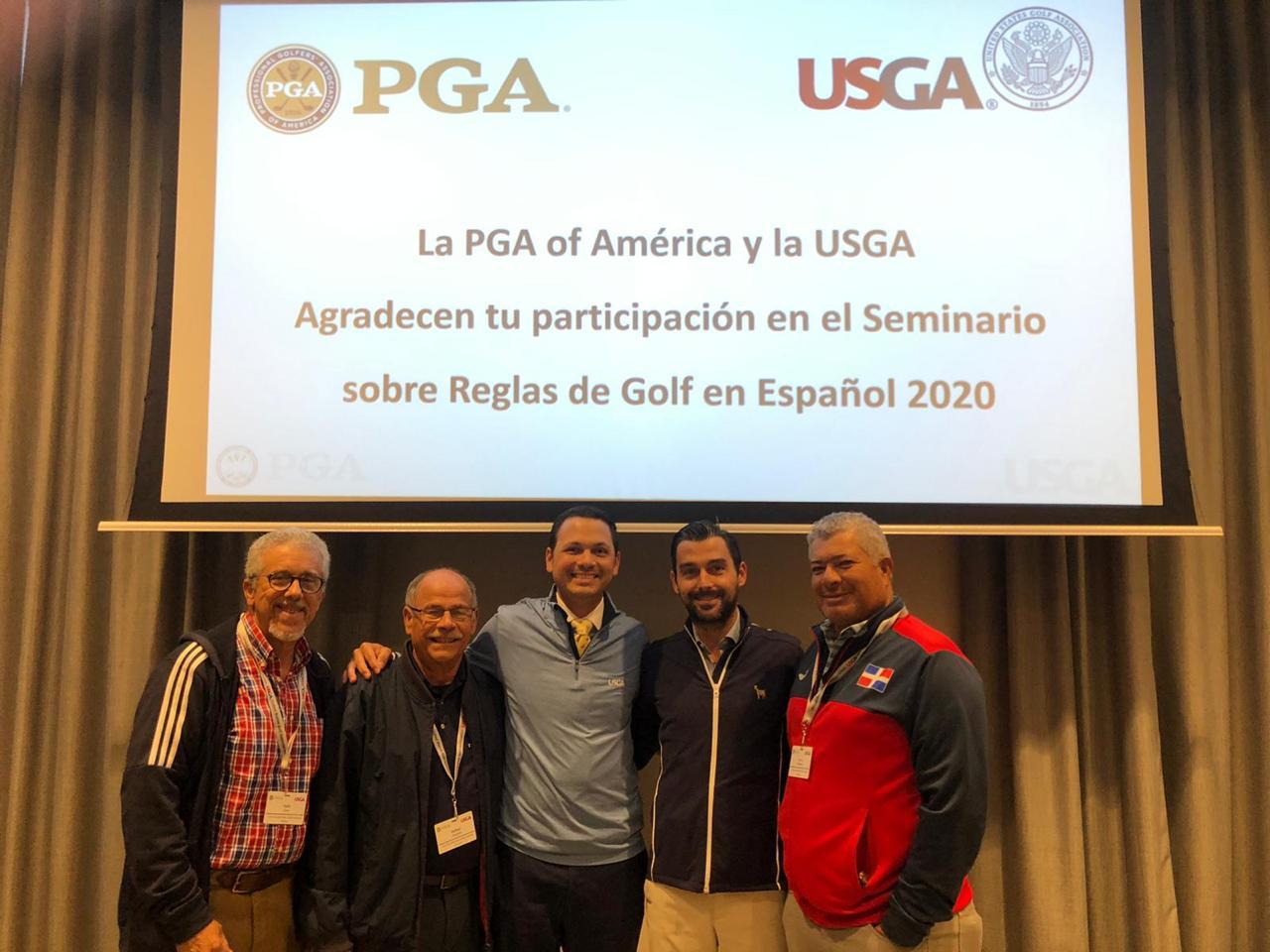 La USGA certifica a tres árbitros  dominicanos en Reglas Avanzadas