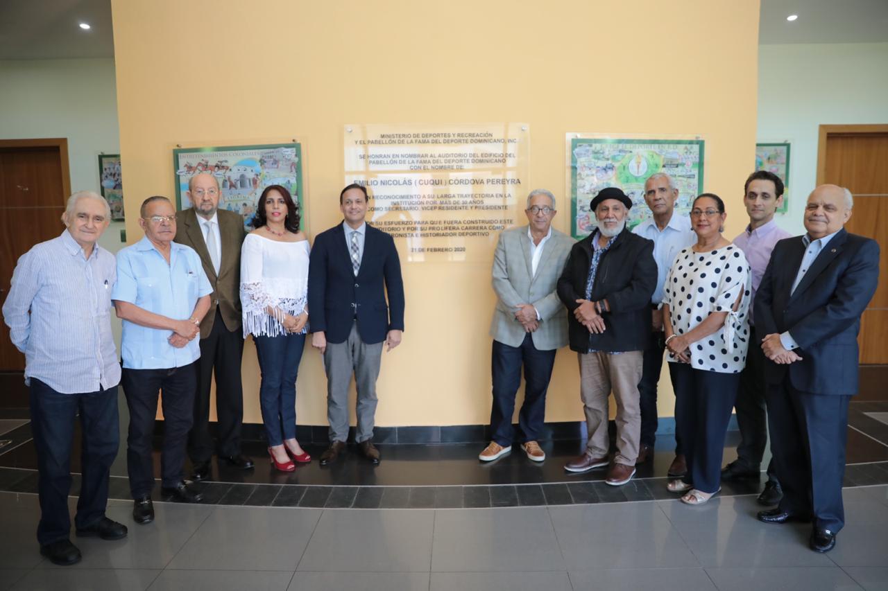 Pabellón de la Fama designa auditorio con el nombre de Emilio Nicolás (Cuqui) Córdova