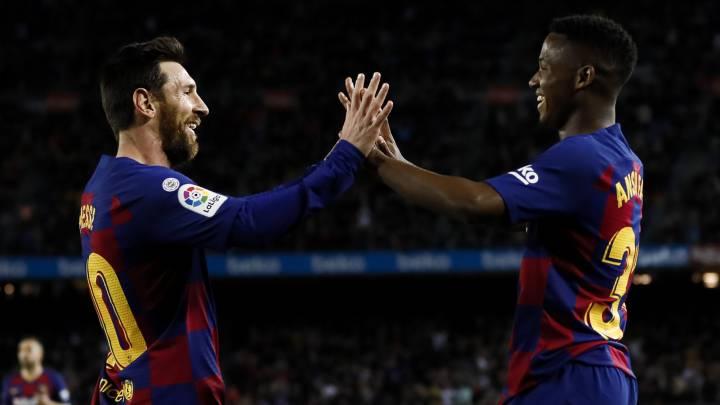 Ansu Fati, protagonista del triunfo del Barcelona en La Liga