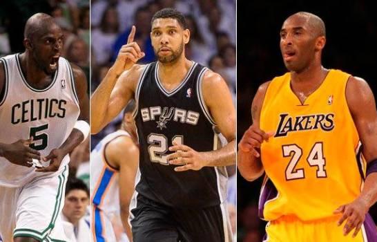 Kobe, Duncan y Garnett encabezan a finalistas al Salón de la Fama