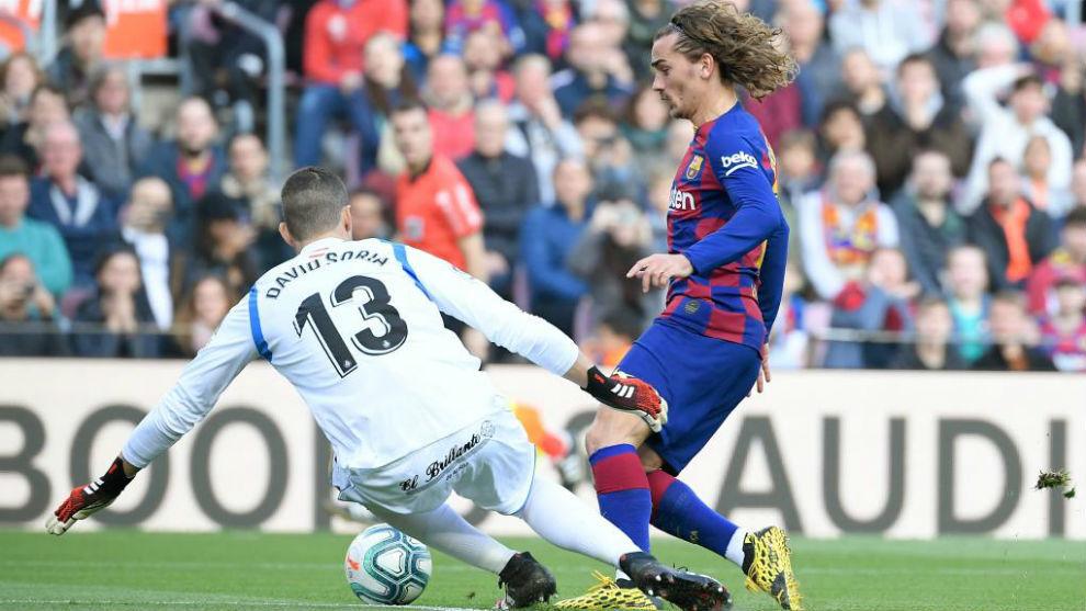 Con ayuda de Greizmann, Barcelona saca difícil victoria ante Gafete