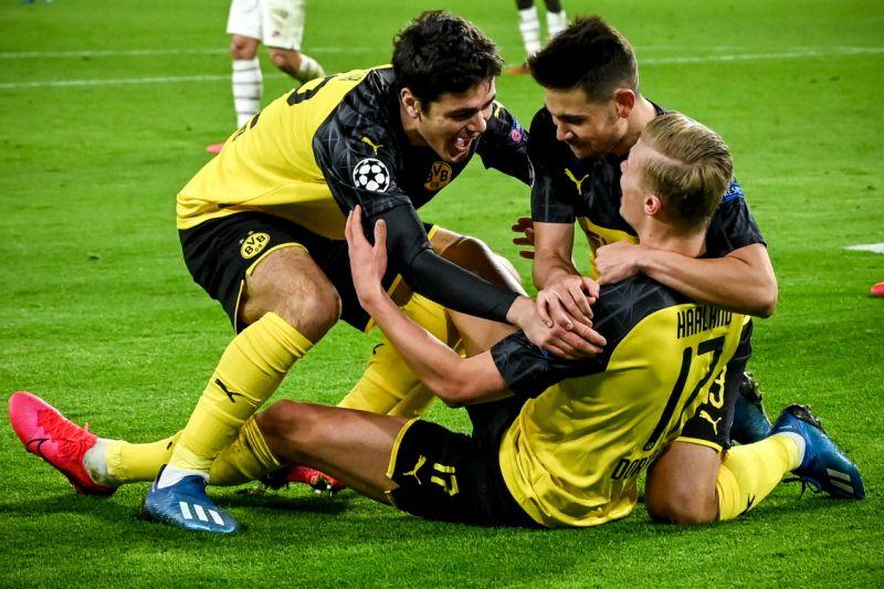 Erling Haaland marca dos goles en victoria del Dortmund sobre PSG