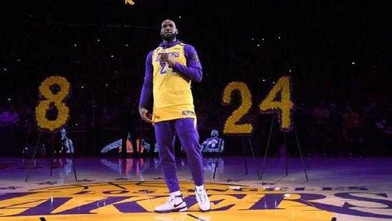Lakers rinden emotivo homenaje en honor a Kobe Bryant
