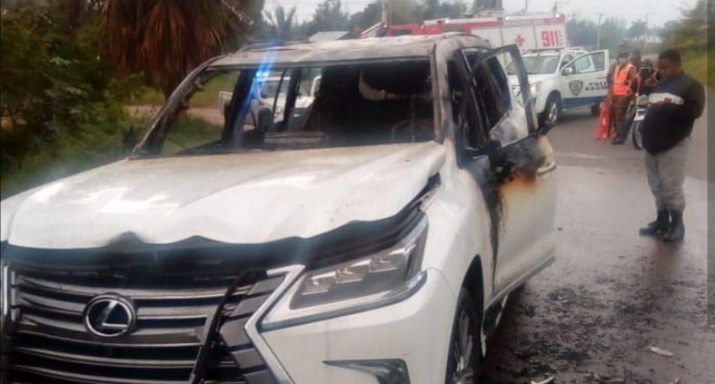 Encuentran quemado vehículo robado al lanzador Jordan Norberto