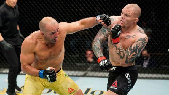 Glover Teixeira acabó a Anthony Smith en UFC Jacksonville