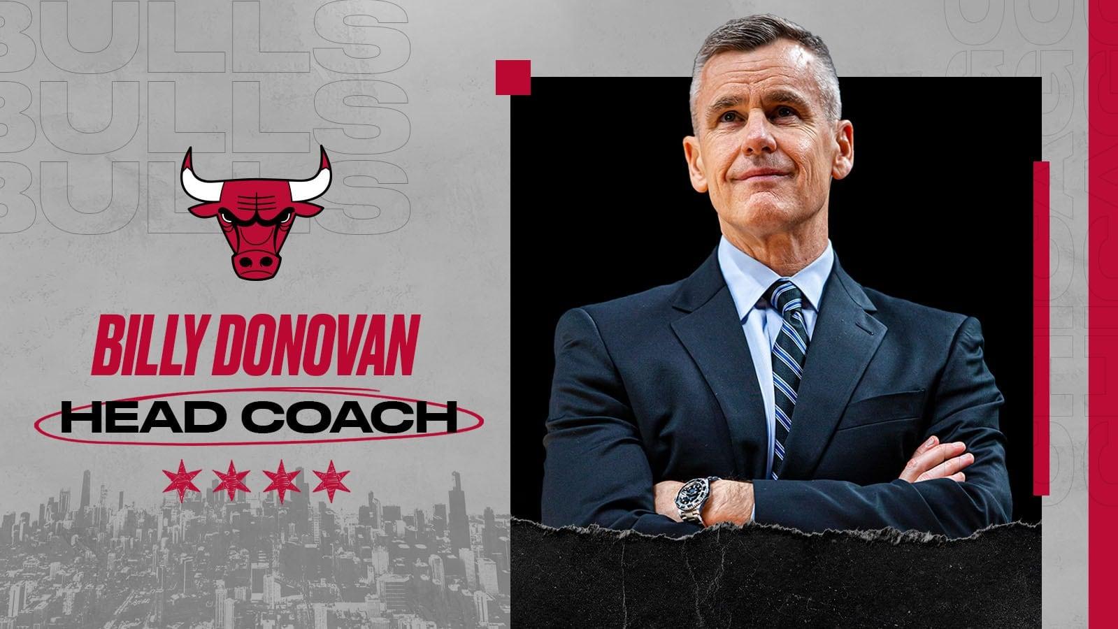 Chicago oficializa llegada de Billy Donovan como nuevo entrenador