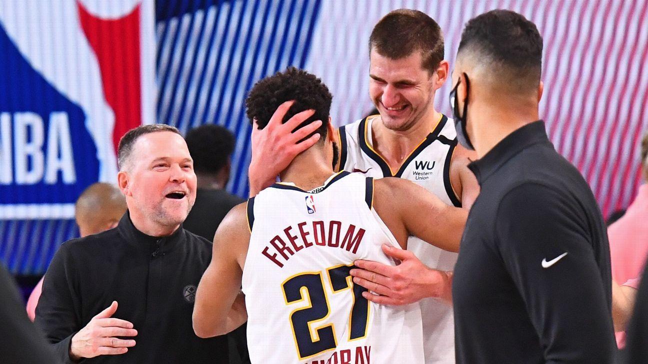 Los Nuggets resisten y se colocan a uno de los Lakers