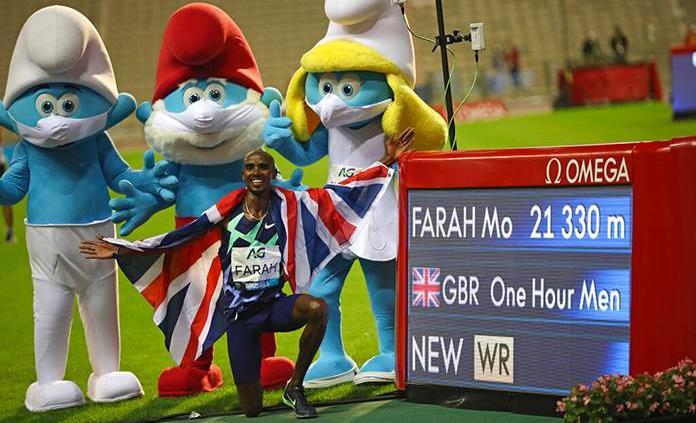 Mo Farah se exhibe con nuevo récord en la sexta parada Liga Diamante