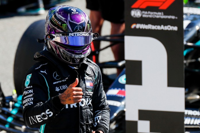 Hamilton logra vuelta más veloz de la historia para GP de Italia; gana la pole