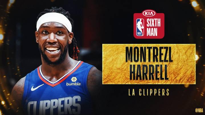 Montrezl Harrell, elegido Mejor Sexto Hombre en la NBA
