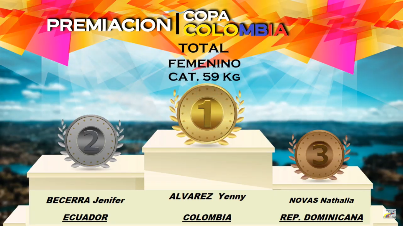 Pesista Novas conquista tres medallas en Copa Colombia