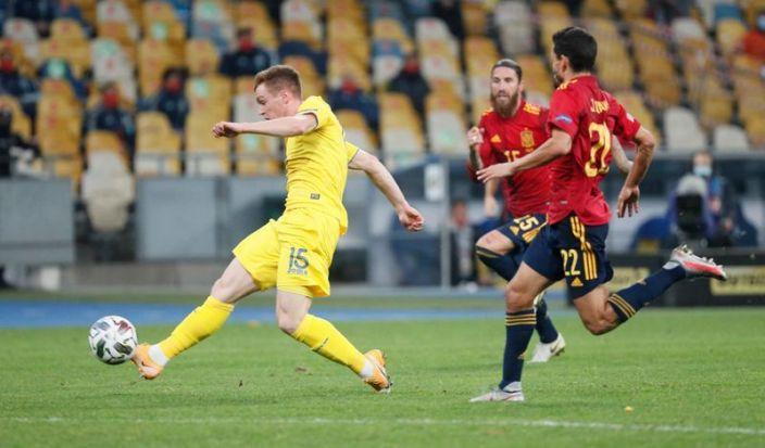 Ucrania logra sorprendente victoria ante España en Liga Naciones