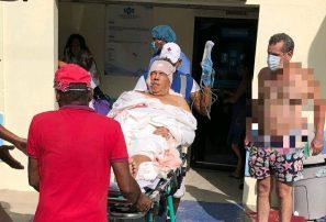 Juanchy Sánchez y varias personas sufren accidente al chocar bote en Monte Cristi