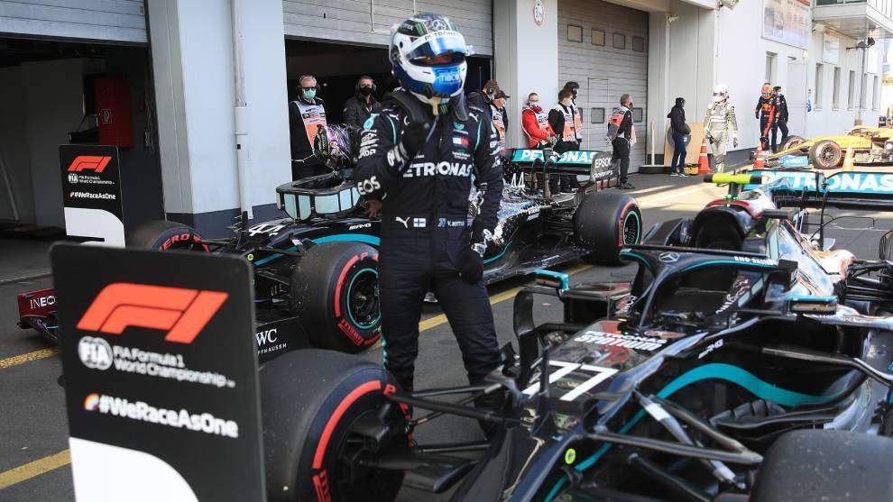 Valtteri Bottas se lleva la pole GP de Eifel sobre Lewis Hamilton