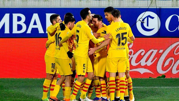 Barcelona reacciona con Messi y De Jong en triunfo ante Huesca