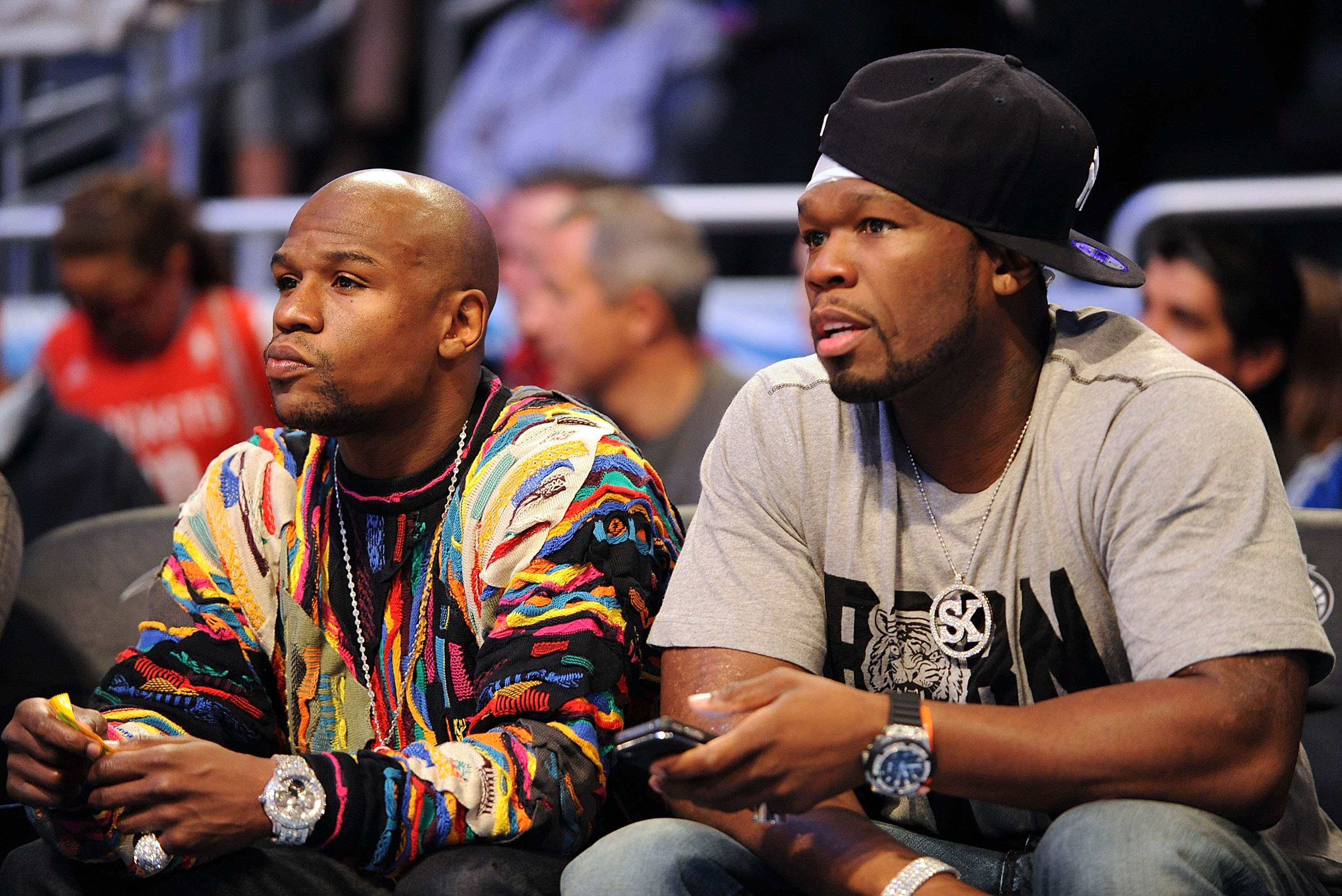 Floyd Mayweather, dispuesto hacer exhibición con rapero 50 Cent
