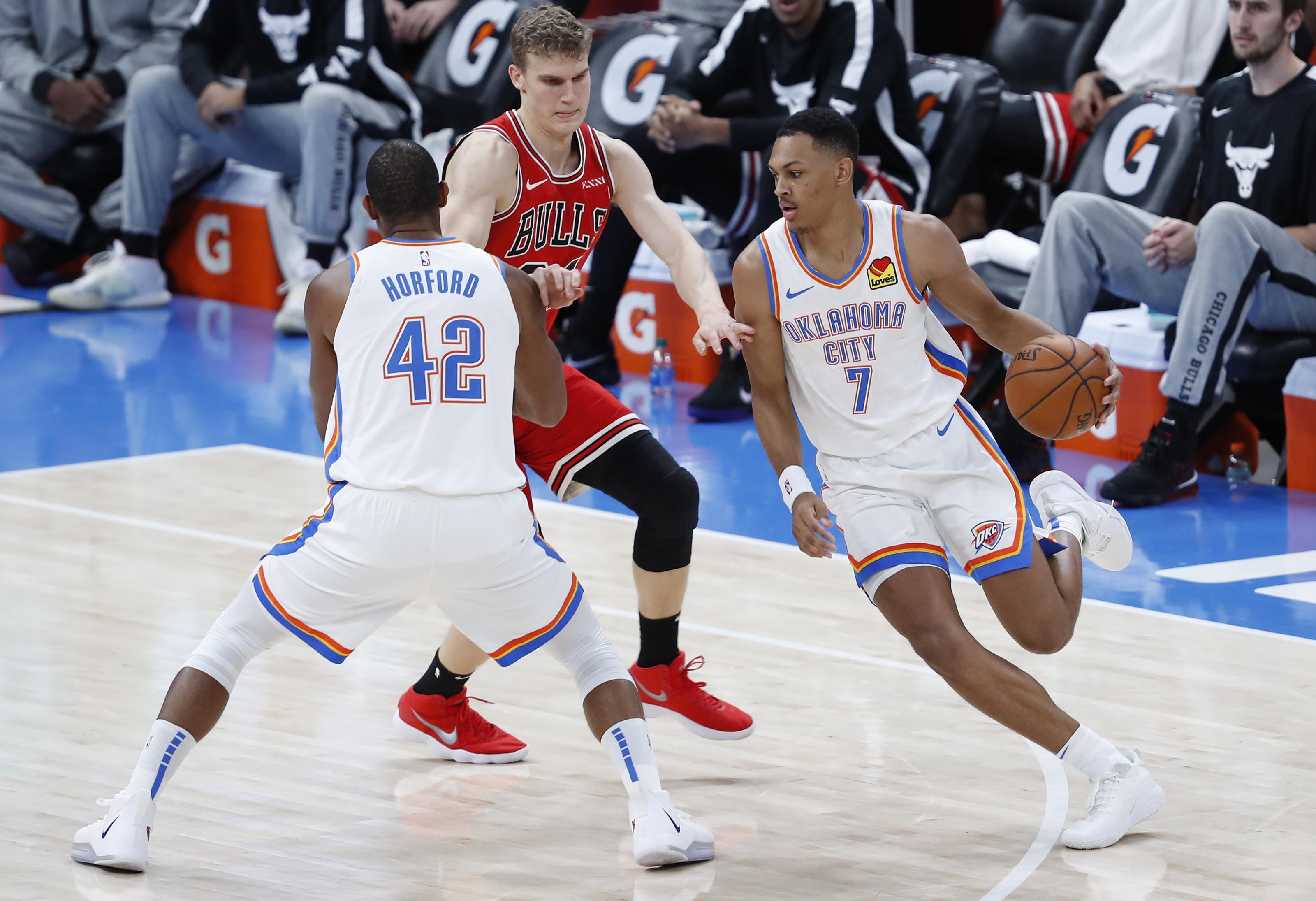 Oklahoma frena racha de seis triunfos de Rockets; Horford anota 17 unidades