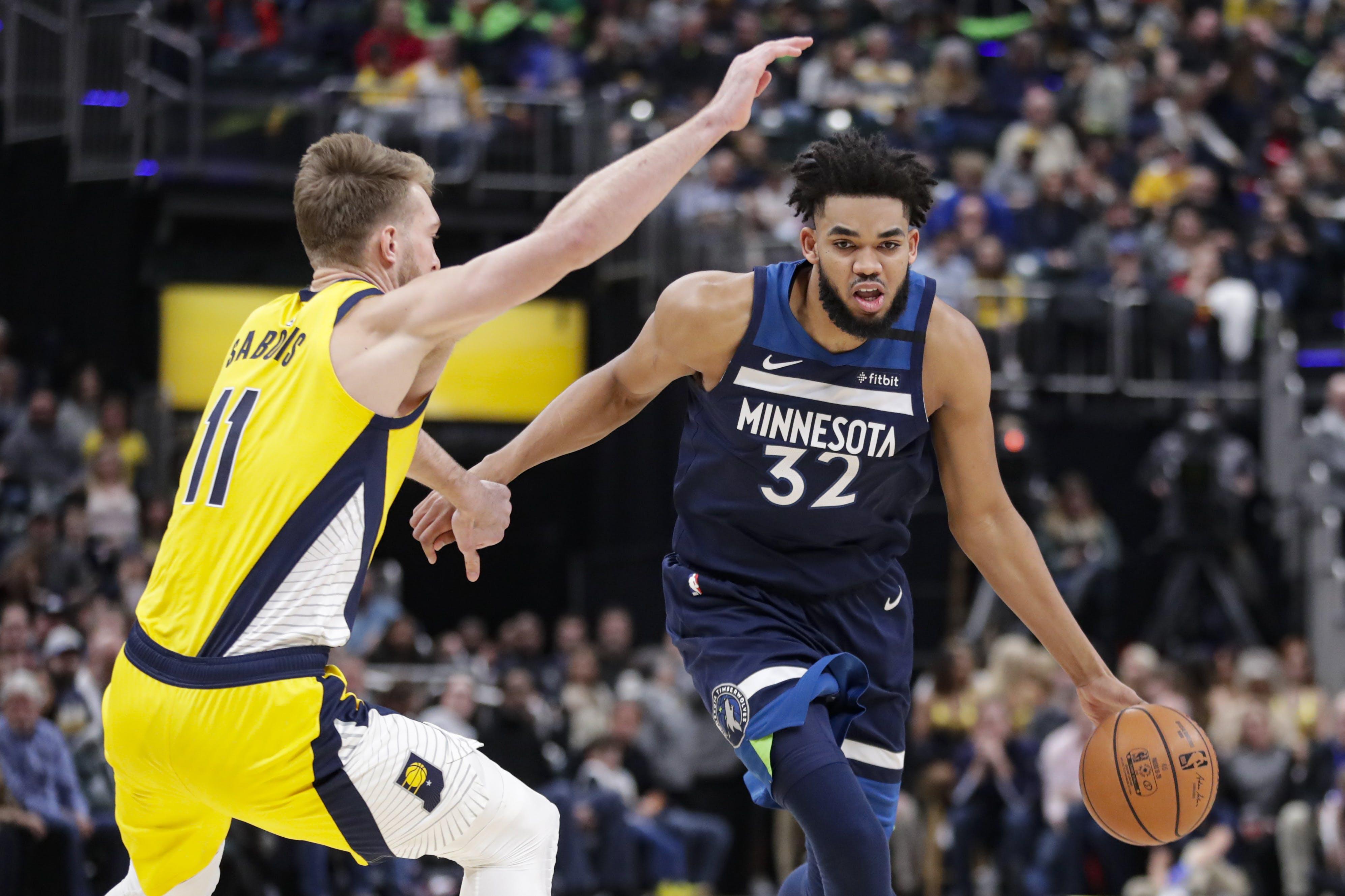 Minnesota pierde ante Indiana pese a 30 puntos de Towns