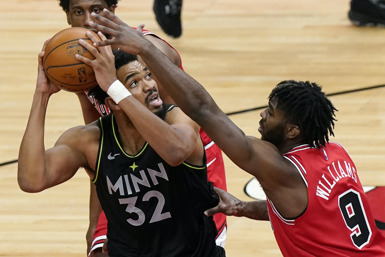 Bulls arruina buena labor de Towns; Wolves caen por décima vez en once duelos