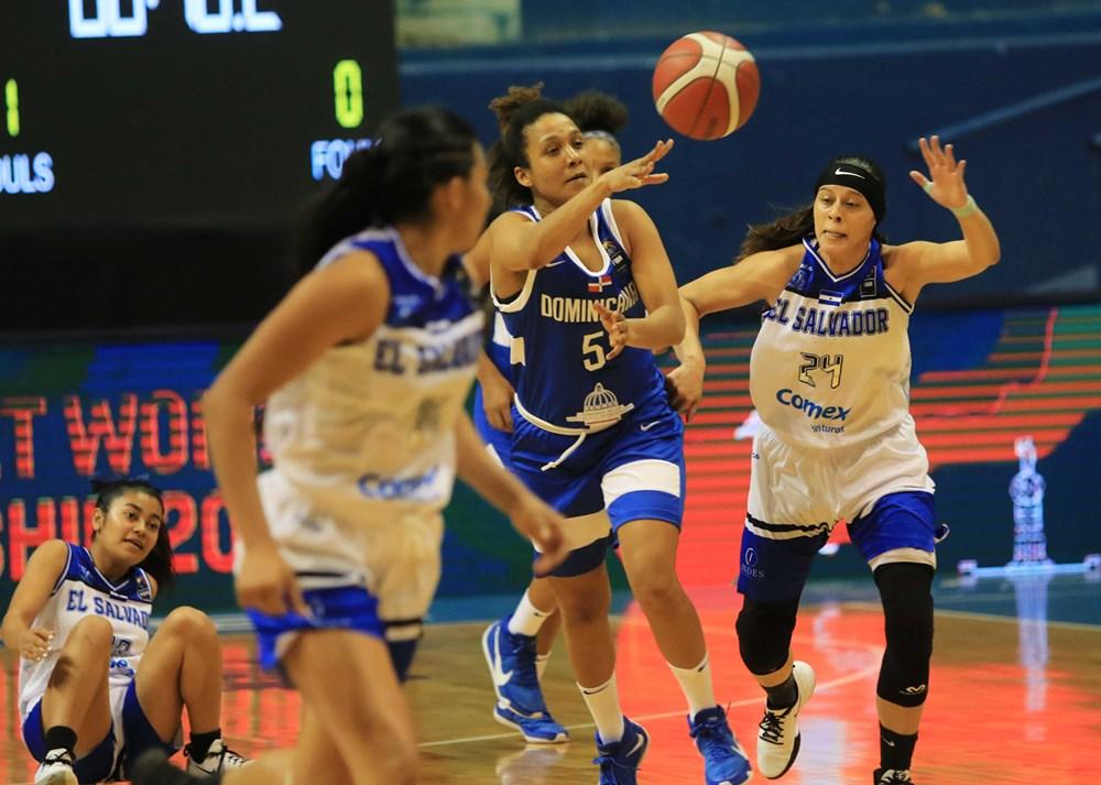 Selección RD logra primer triunfo CentroBasket Femenino El Salvador