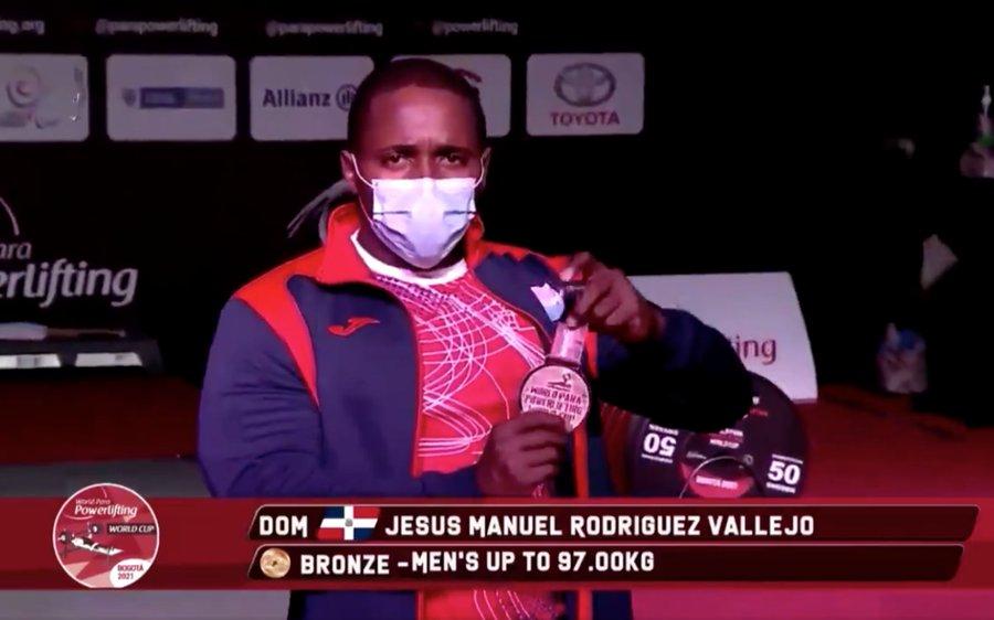 Rodríguez gana bronce en Copa del Mundo de Pesas Paralímpico