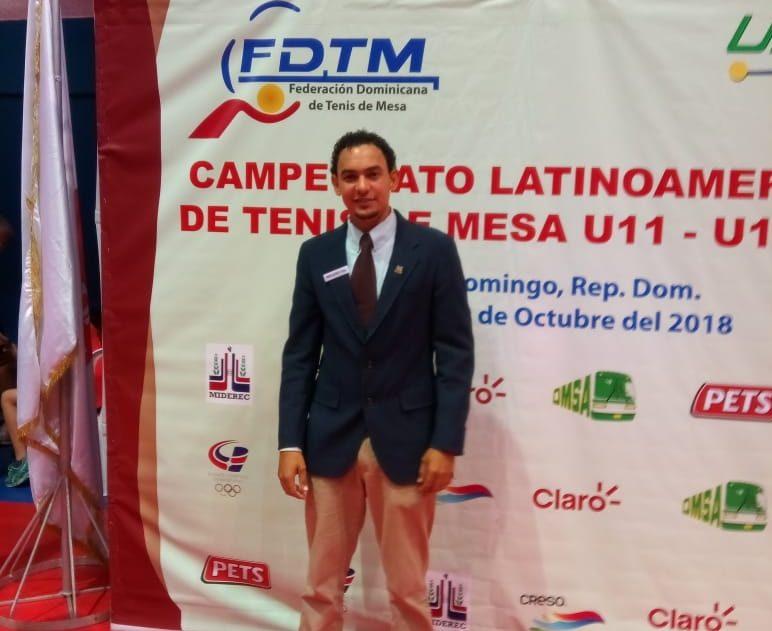 Víctor Hernández, designado árbitro tenis de mesa Panam Junior Cali