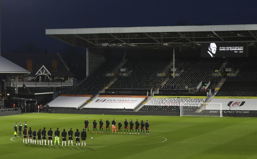 El fútbol inglés lamenta el fallecimiento del príncipe Felipe