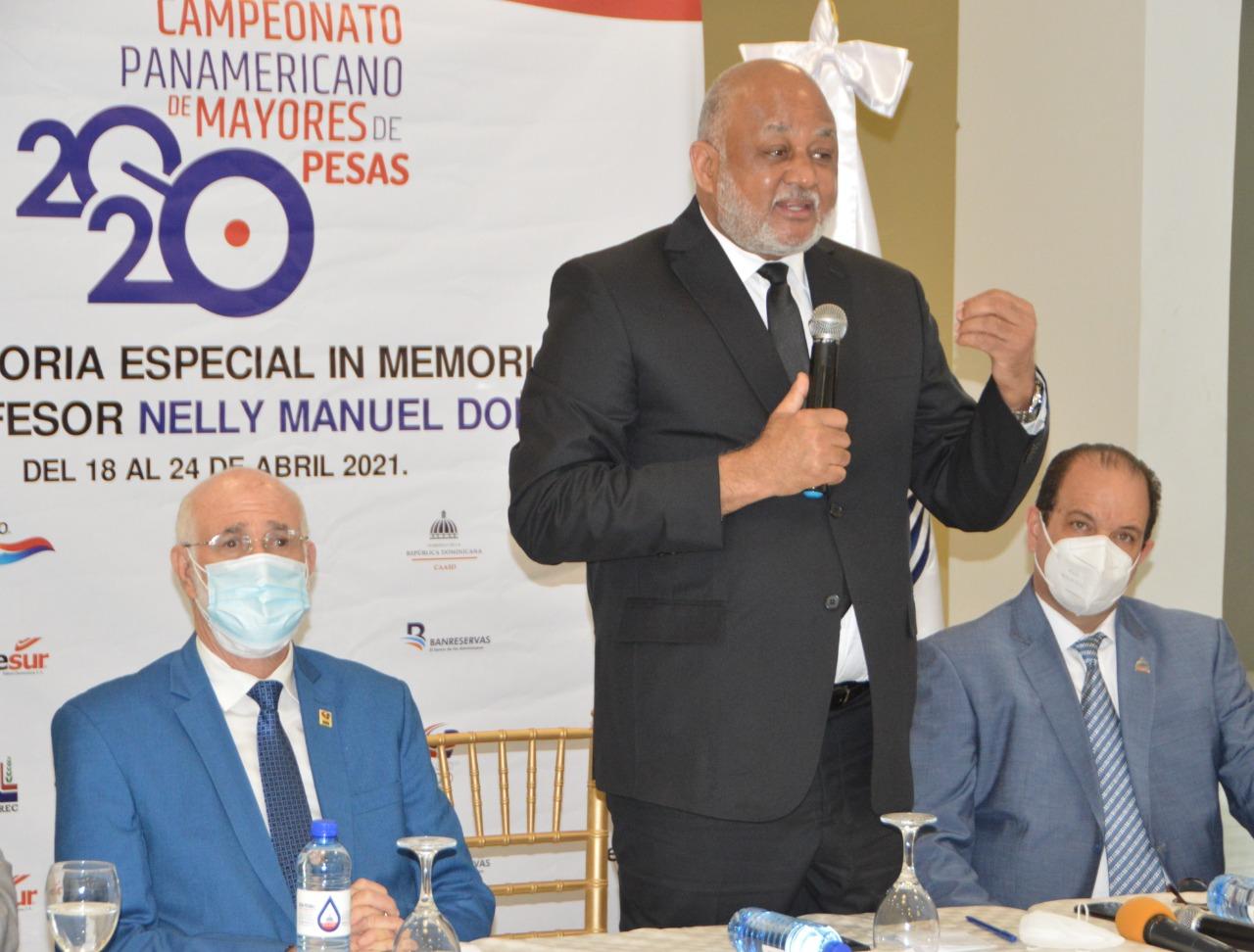 Ministro Fulcar garantiza panamericano de pesas se efectuará dignamente