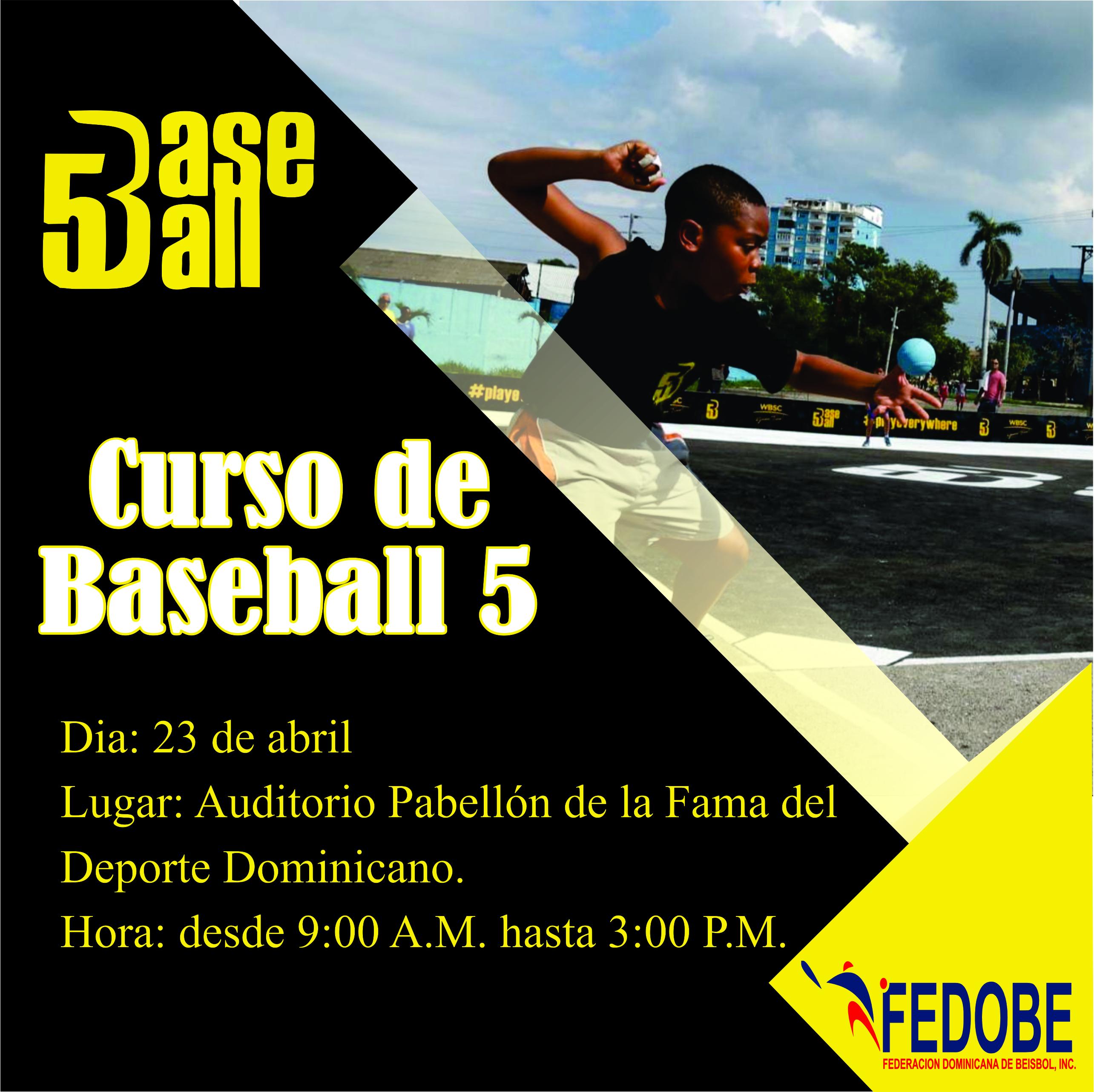 """Fedobe anuncia curso de capacitación en la modalidad """"Baseball 5"""""""