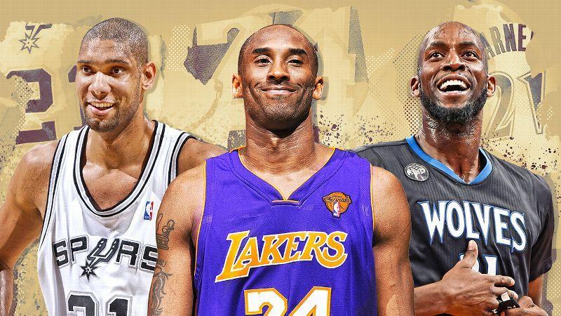 Kobe, Duncan y Garnett, oficialmente exaltados al Salón de la Fama