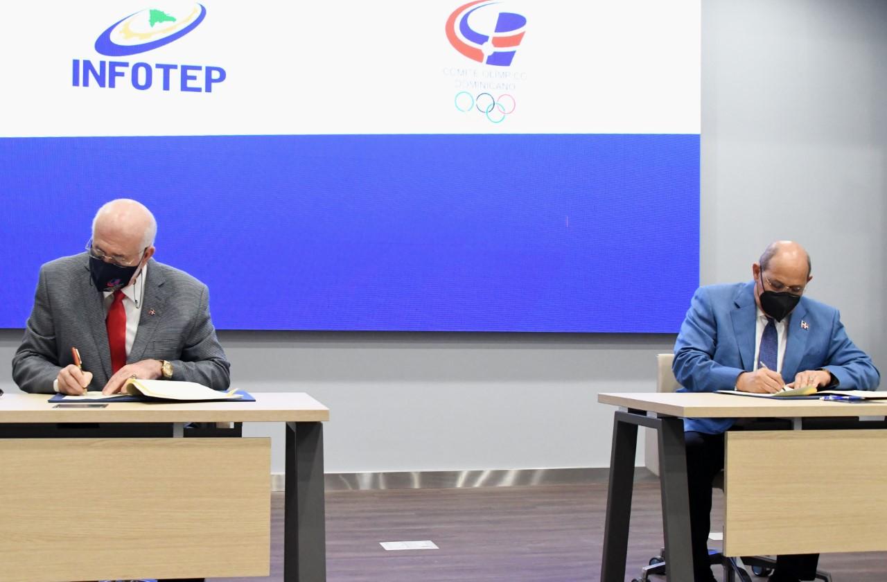 INFOTEP y el COD firman acuerdo de colaboración beneficiará atletas