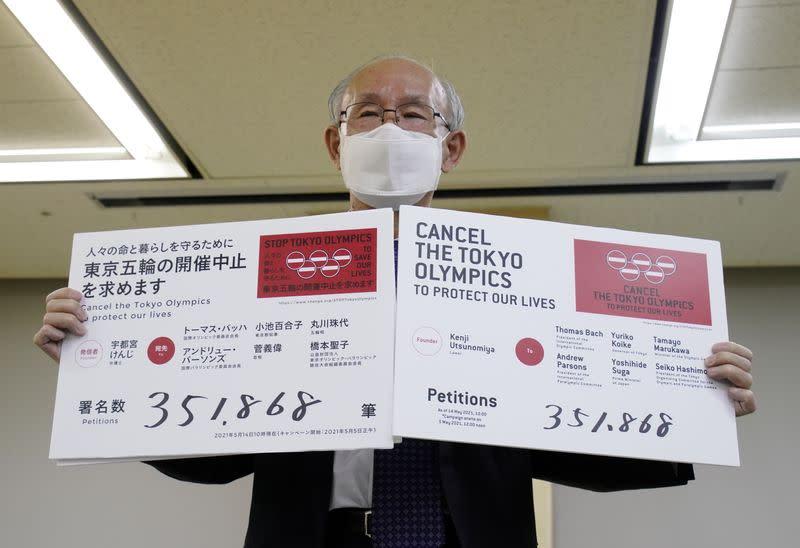 Críticos JJOO Tokio entregan petición instando a cancelar evento