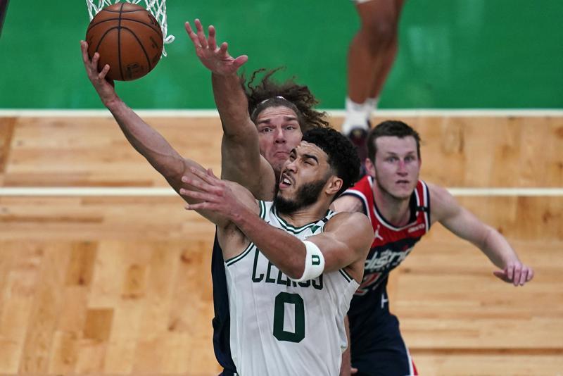 Con 50 tantos de Tatum, Celtics superan a Wizards; Pacers superan con facilidad a Hornets