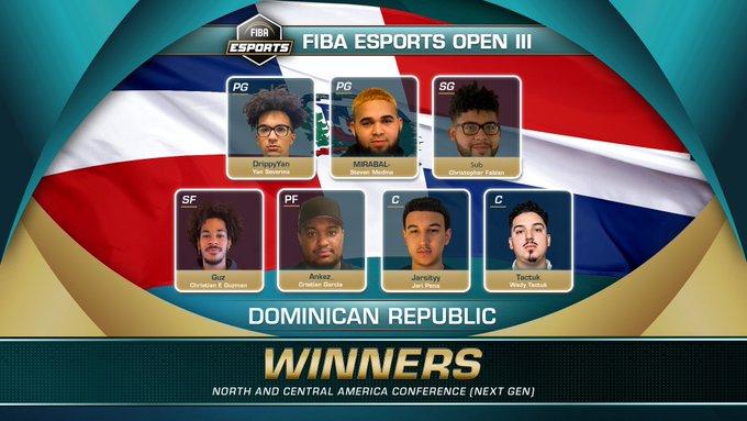 República Dominicana campeón del FIBA eSports Open 2021