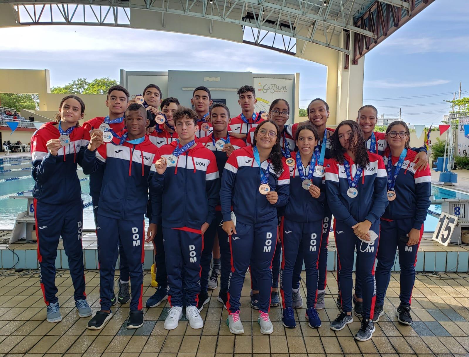 Natación RD juvenil conquista 33 medallas en Campeonato Centroamericano y del Caribe