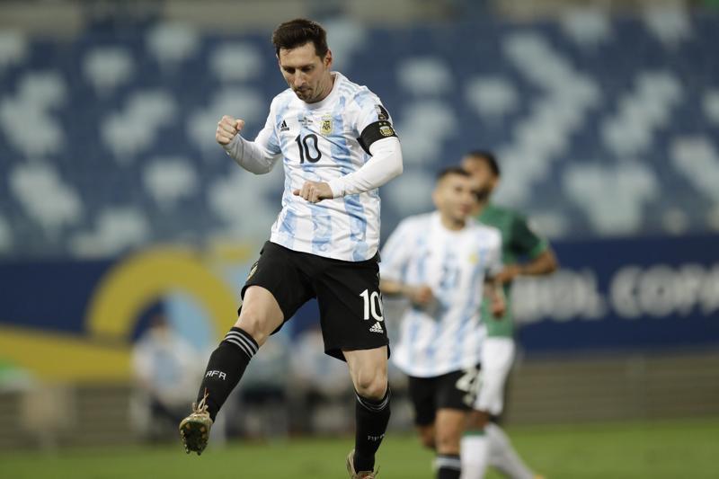 Messi establece récord de partidos con selección de Argentina